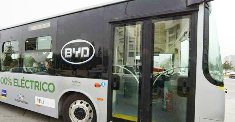 Chinese-made electric bus debuts in Peru to help city go green