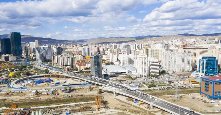China-funded overpass in Mongolia opens to traffic